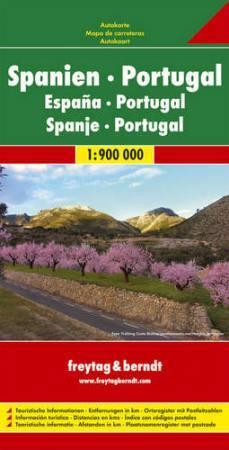 Spanyolország és Portugália autótérkép (1:900000) - Freytag-Berndt