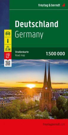 Németország autótérkép (1:500000) - Freytag-Berndt