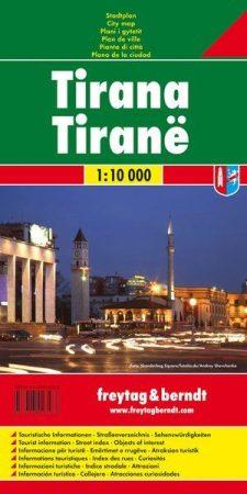 Tirana várostérkép - Freytag-Berndt