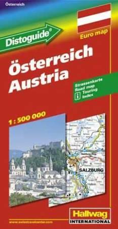 Ausztria autótérkép - Hallwag