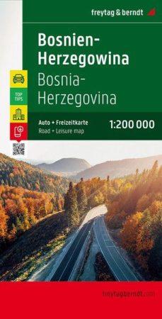 Bosznia-Hercegovina autótérkép - Freytag-Berndt Top 10 Tips
