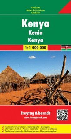 Kenya, travel map - Freytag-Berndt