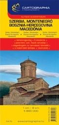 Szerbia, Montenegró, Bosznia-Hercegovina, Mecedónia autótérkép - Cartographia