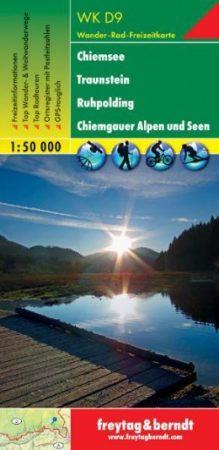 Chiemsee, Traunstein, Ruhpolding, Chiemgauer Alpen és a tóvidék turistatérkép (WKD 9) - Freytag-Berndt