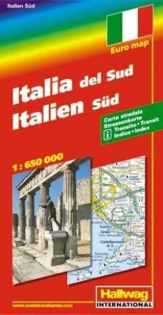 Dél-Itália autótérkép - Hallwag