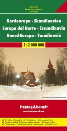 Észak-Európa autótérkép - Freytag-Berndt