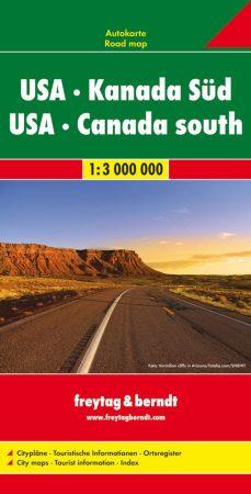 USA, Dél-Kanada autótérkép - Freytag-Berndt