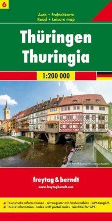 Türingia autótérkép - Freytag-Berndt