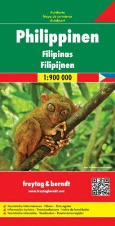 Philippines, travel map - Freytag-Berndt