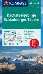 Dachstein, Schladminger Tauern turistatérkép (WK 293) - Kompass