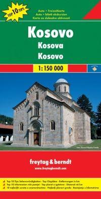 Koszovó autótérkép - Freytag-Berndt Top 10 Tips