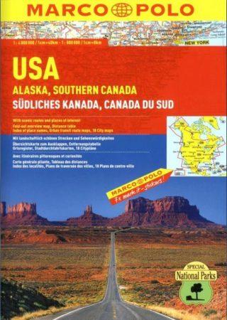 USA, Alaska & southern Canada, travel atlas - Marco Polo