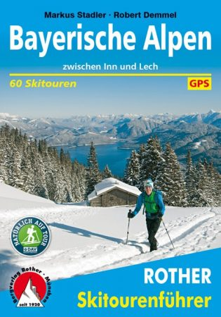 Bajor-Alpok, német nyelvű sítúrakalauz - Rother