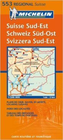 Svájc (délkelet) autóstérkép (553) - Michelin