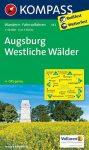 Augsburg, Westliche Wälder turistatérkép (WK 162) - Kompass
