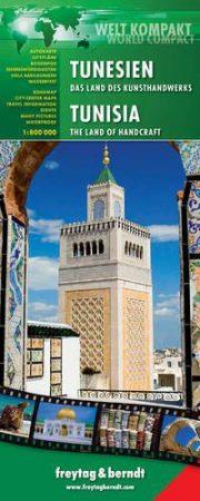 Tunisia, travel map - Freytag-Berndt World Compact