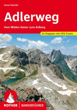 Adlerweg, német nyelvű túrakalauz - Rother