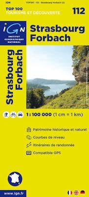 Strasbourg, Forbach kerékpáros térkép (112) - IGN Top 100