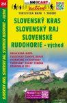 Szlovák-karszt, Szlovák-paradicsom, Gömör-Szepesi-érchegység (kelet) turistatérkép (233) - ShoCart