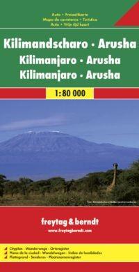 Kilimandzsáró térkép - Freytag-Berndt