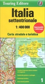 Észak-Olaszország térkép - TCI
