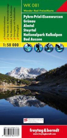 Pyhrn-Priel- Eisenwurzen, Grünau, Almtal, Steyrtal, Kalkalpen Nemzeti Park, Bad Aussee turistatérkép (WK 081) - Freytag-Berndt