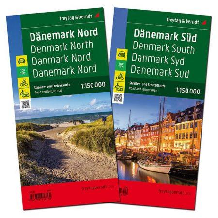 Denmark, road map set - Freytag-Berndt Top 10 Tips