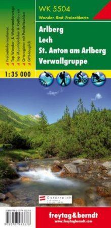 Arlberg, Lech, St. Anton, Verwallgruppe turistatérkép (WK 5504) - Freytag-Berndt