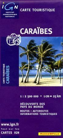 Karibi-szigetek térkép - IGN