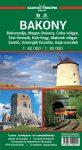Bakony, Bakonyalja, Balaton-felvidék térkép - Szarvas & Faragó