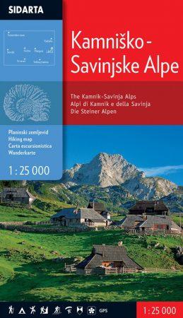 Kamniki-Savinjai-Alpok turistatérkép - Sidarta
