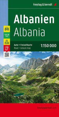 Albánia autótérkép - Freytag-Berndt Top 10 Tips