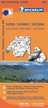 Switzerland (Southwest), road map (552) - Michelin