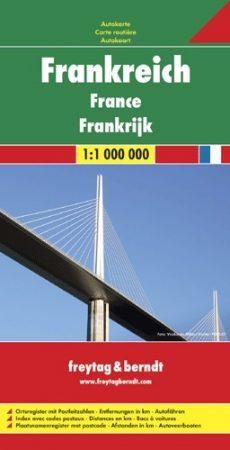 Franciaország autótérkép (1: 1 000 000) - Freytag-Berndt