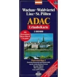 Wachau, Waldviertel, Linz, St. Pölten turistatérkép - ADAC