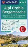 Alpi Orobie Bergamasche turistatérkép (WK 104) - Kompass