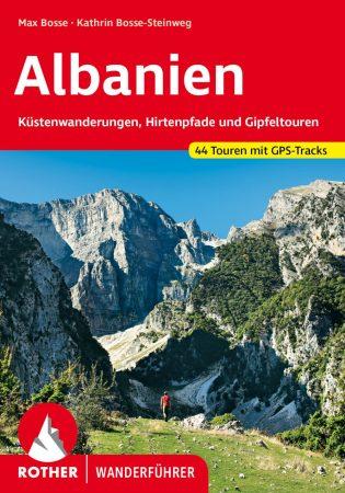Albánia, német nyelvű túrakalauz - Rother