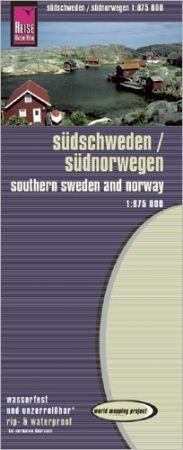 Dél-Norvégia és Dél-Svédország térkép - Reise Know-How