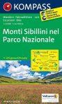 Monti Sibillini Nemzeti Park turistatérkép (WK 2474) - Kompass