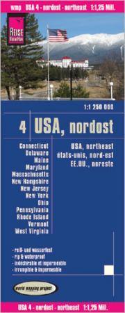 USA: Északkelet (4) térkép - Reise Know-How