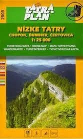 Low Tatra Mountains, Chopok, Ďumbier & Čertovica, hiking map (2505) - Tatraplan