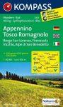 Appennino Tosco Romagnolo turistatérkép (WK 2453) - Kompass