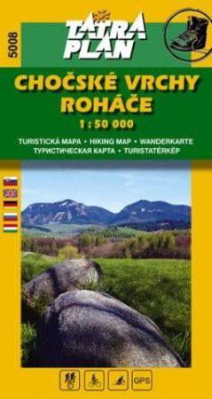 Kócs-hegység, Roháče turistatérkép (5008) - Tatraplan
