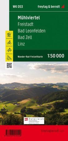 Mühlviertel, Freistadt, Bad Leonfelden, Bad Zell, Linz turistatérkép (WK 053) - Freytag-Berndt
