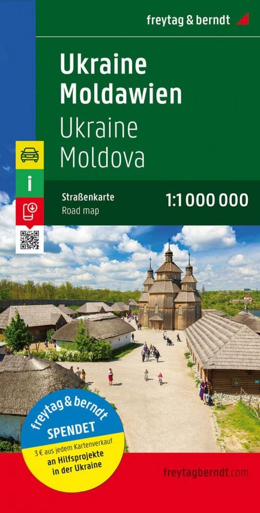 Ukrajna és Moldova autótérkép - Freytag-Berndt
