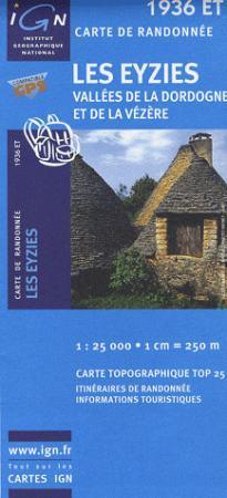 Les Eyzies / Vallées de la Dordogne et de la Vézère - IGN 1936ET