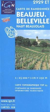 Beaujeu / Belleville / Haut Beaujolais - IGN 2929ET