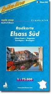 Elsass Süd kerékpártérkép - Esterbauer