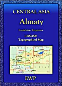 Almaty regionális térkép - EWP