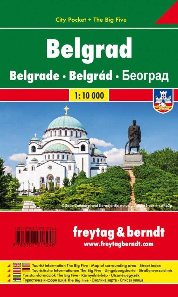 Издание представляет собой карту Белграда (масштаб 1:15000).  Включает план внутренней части города, карту...